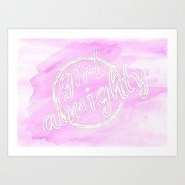 Girl Almighty Art Print