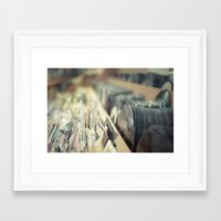 records Framed Art Prints featuring Records by Jake Boeve