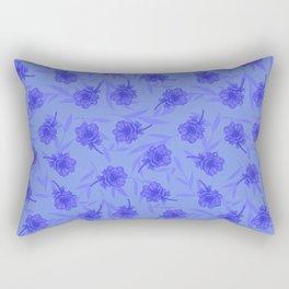 Anemone Field Blue Rectangular Pillow