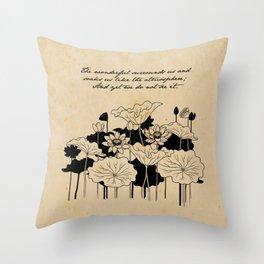 Baudelaire - Les Fleurs du Mal Throw Pillow