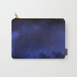 Navy Blue Sky Galaxy Painting Carry-All Pouch