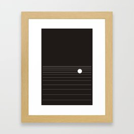 Calm water Lake Moon Minimal Framed Art Print