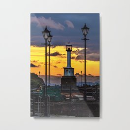 Maryport Lighthouse At Sunset Metal Print