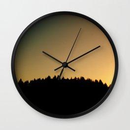 Forest Rainbow Wall Clock