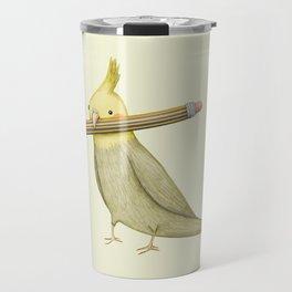 Cockatiel & Pencil Travel Mug