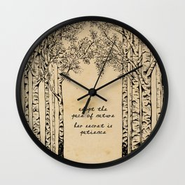 Ralph Waldo Emerson - Pace of Nature Wall Clock
