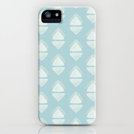 Sky blue pattern iPhone Case