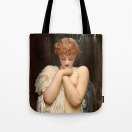 "Frederic Leighton ""Crenaia, the Nymph of the Dargle"" Tote Bag"