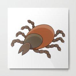 dangerous parasite - tick Metal Print