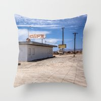 cafe Throw Pillows featuring cafe by petervirth photography