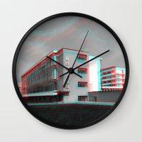 bauhaus Wall Clocks featuring Bauhaus · Das Bauhaus 4 by Marko Köppe