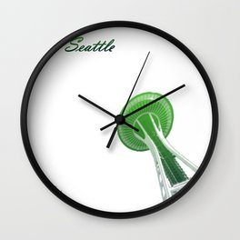 Cities Of America: Seattle Wall Clock