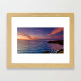 jacks bay sunset colorful panorama scene Framed Art Print