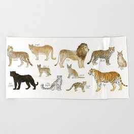 Wild Cats Beach Towel