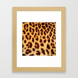 Leopard skin pattern Framed Art Print