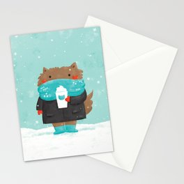Winter Cat Stationery Cards