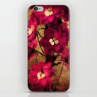 vintage flowers iPhone & iPod Skins featuring Vintage Flowers by Christine Belanger