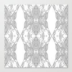 black line structure Canvas Print