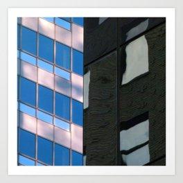 Manhattan Windows - Horizon Art Print