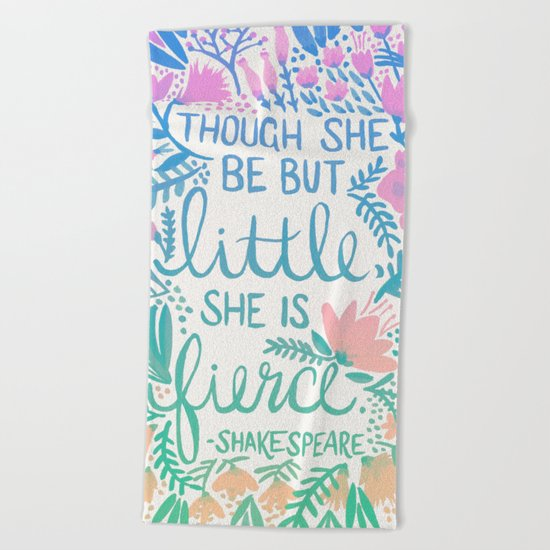Little & Fierce – Lavender Mint Ombré Beach Towel