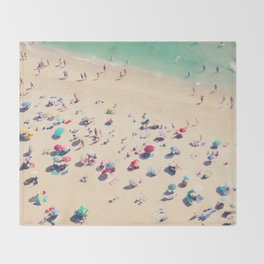 beach summer in love Throw Blanket