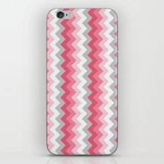 Chevron Pink & Grey iPhone & iPod Skin