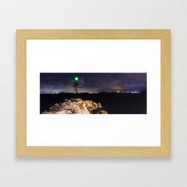The Green LIGHTHOUSE- Island of Ischia - Landscape Framed Art Print