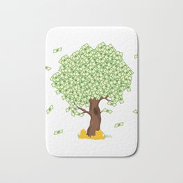 Tree of Money T-shirt Design For those who wants to have luck. Here's a tree of dollars. A must have Bath Mat