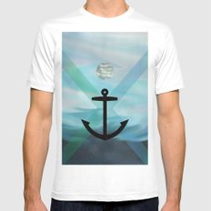 anchor MEDIUM Mens Fitted Tee White