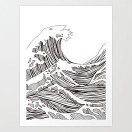 great big wave Art Print