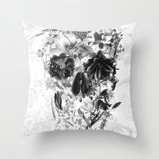 New Skull Light B&W Throw Pillow