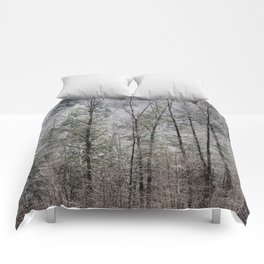Snow Dusted Trees, No. 1 Comforters