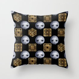 Chibi Pinhead & Puzzle Boxes Throw Pillow