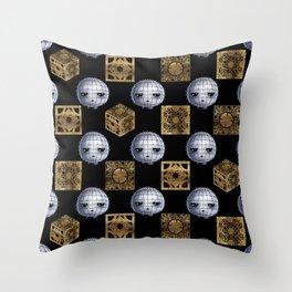 Chibi Pinhead & Puzzle Boxes Throw Pillow