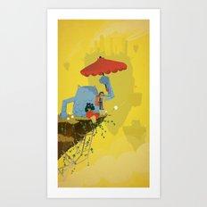 Matilda and Bouru - Melancholy Art Print
