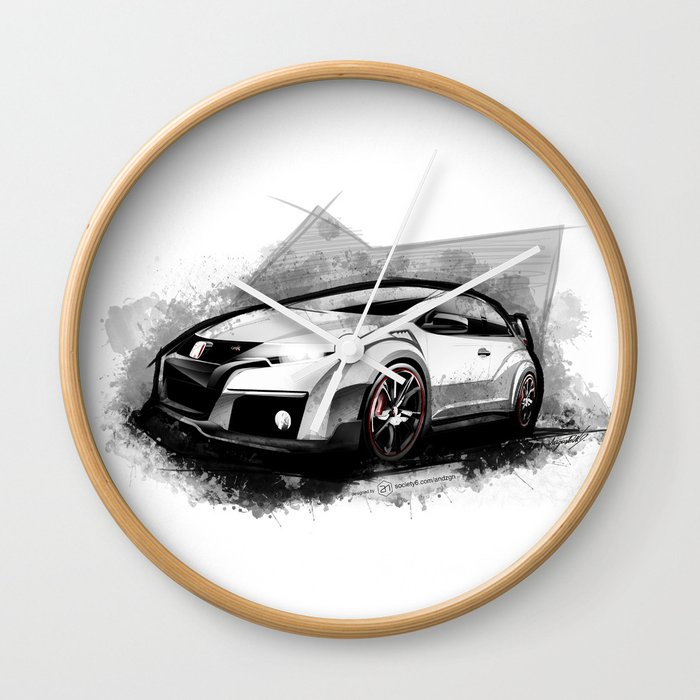 Civic Type R Wall Clock