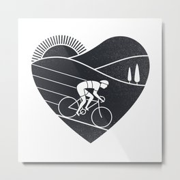 Love Cycling Metal Print