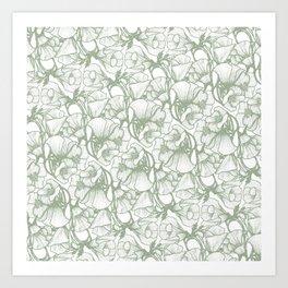 Grijze Bloem Art Print