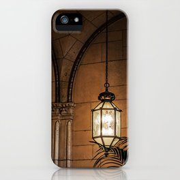 Hanging Lamp in the Hall of a Dark Moorish Castle iPhone Case