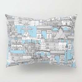 Paris toile cornflower blue Pillow Sham