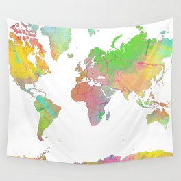 World Map - 8 Wall Tapestry