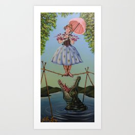Haunted Mansion Portrait: Trapeze Girl Art Print