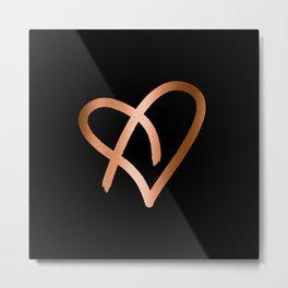 Heart of Copper Metal Print