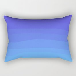 Cobalt Light Blue gradient Rectangular Pillow
