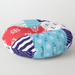 Beautiful Patch 10 (Nautical) Floor Pillow