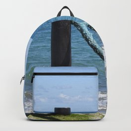 Idylic sea scape Backpack
