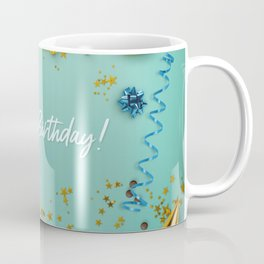 Happy Birthday Party Scene Layflat Coffee Mug
