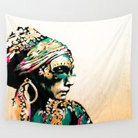 gypsy Wall Tapestries featuring Gypsy by Mo Baretta