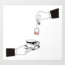 Tea hour Art Print