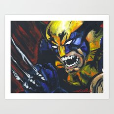 Wolverine X-Men Logan Art Print